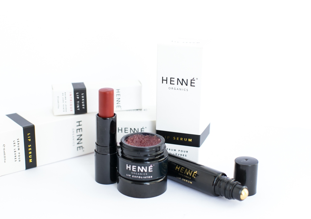 Henne Organics Luxury Lip Tint, Lip Exfoliator and Lip Serum Review
