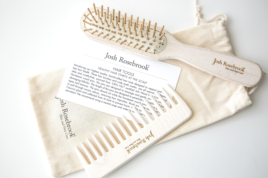 Josh Rosebrook Hair Tools, brush and wide tooth comb