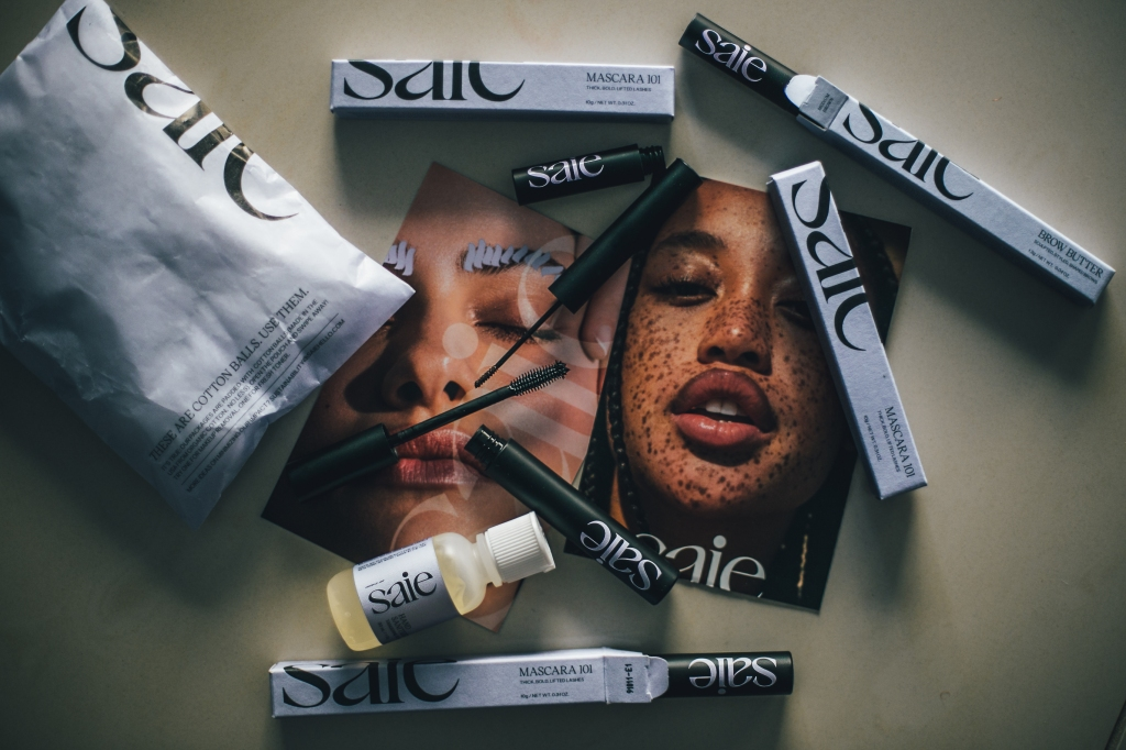 Saie Beauty review, Saie mascara 101 review, Saie Brow butter review, Saie Slip cover review, Saie Slip Cover Swatches